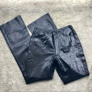 Black Wilsons Leather Maxima Pants Size 6